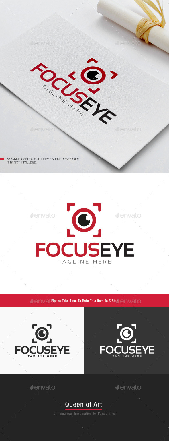 Focus Eye Logo - Objects Logo Templates