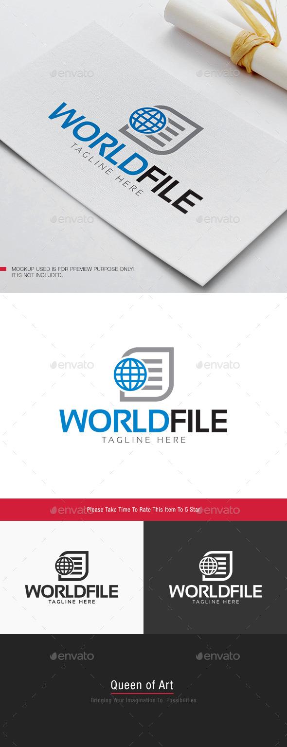 World File Logo - Objects Logo Templates