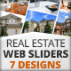 Real Estate Web Sliders 7 designs - GraphicRiver Item for Sale