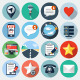 Flat Icons with long shadow, set 13 - GraphicRiver Item for Sale