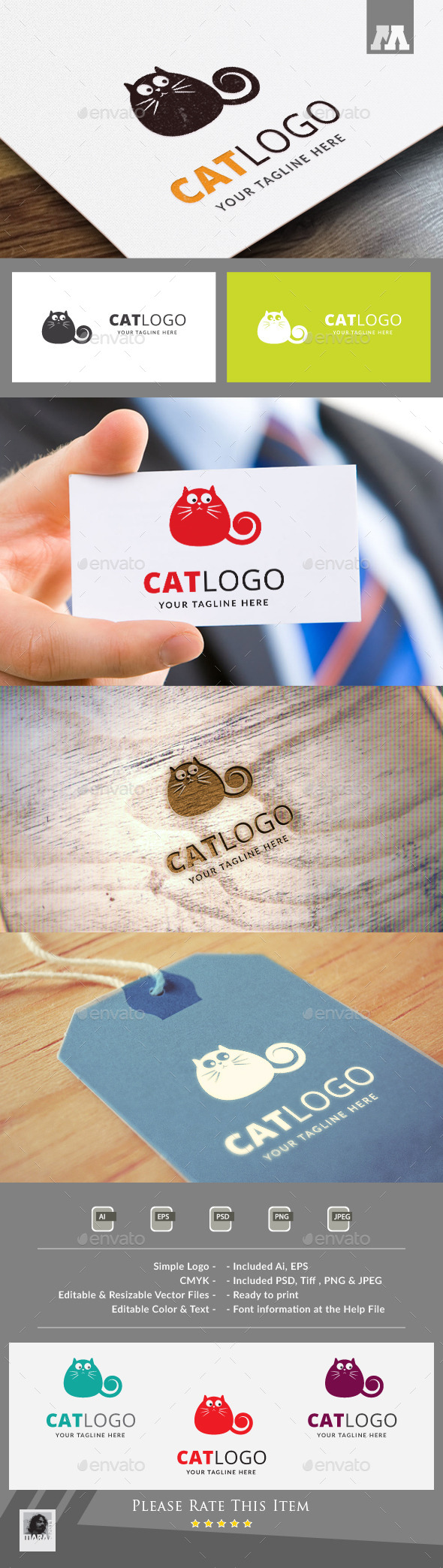 Cat Logo Template