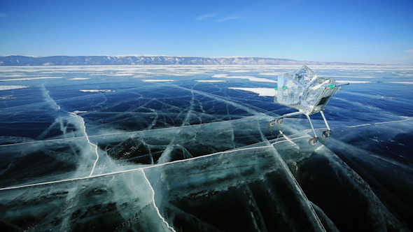 Shopping Cart With Ice Cubes 1319