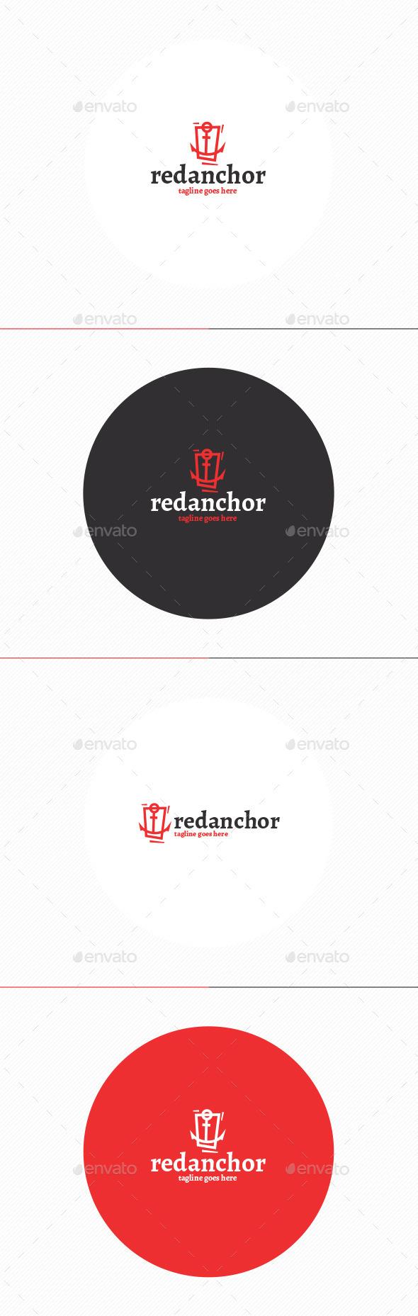 Red Anchor Logo - Symbols Logo Templates