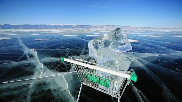Shopping Cart With Ice Cubes 1323