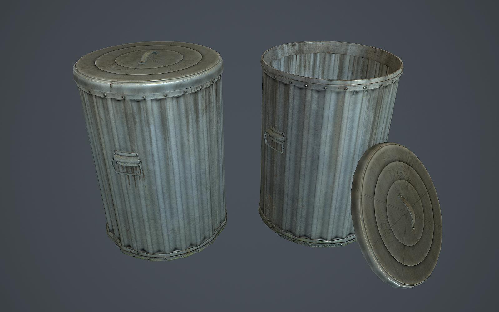 Trash Bin By Polymage 3docean