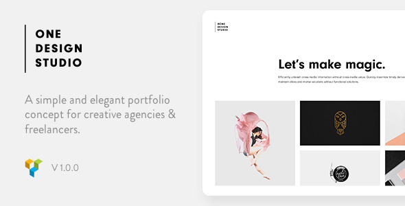 One – Elegant Portfolio WordPress Theme