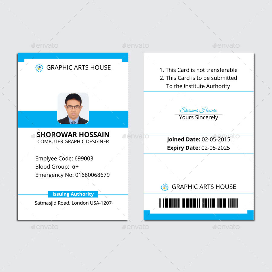 Employee Id Card By Thedesignsource