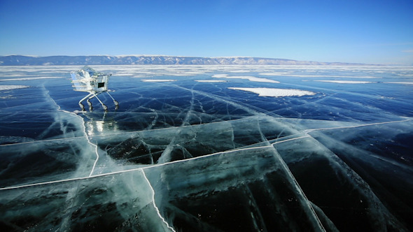 Shopping Cart With Ice Cubes 1329