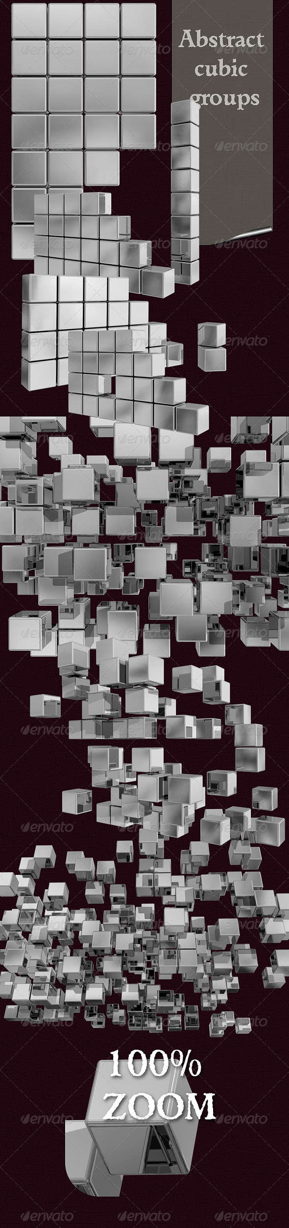 Abstract Cubic Groups - 3D Backgrounds