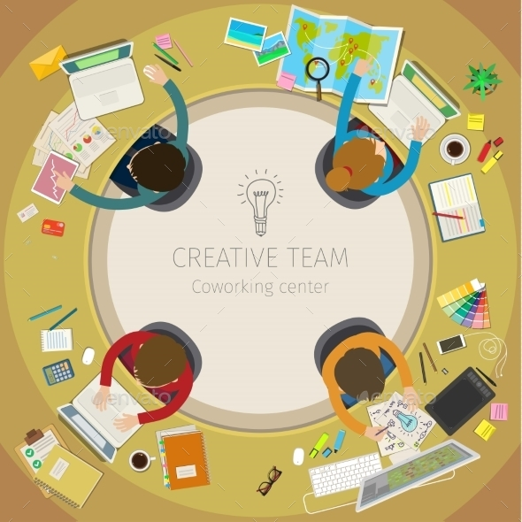 Concept Of Creative Teamwork.  - Concepts Business