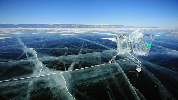 Shopping Cart With Ice Cubes 1332
