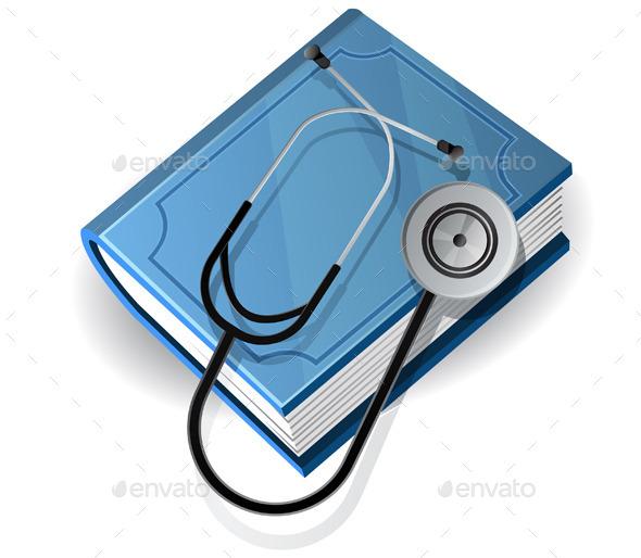 Medical Books Icon - Health/Medicine Conceptual