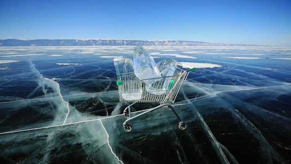 Shopping Cart With Ice Cubes 1336