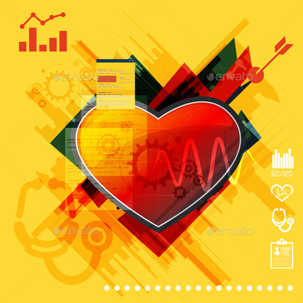 Medical Cardialogy Abstract Illustration - Health/Medicine Conceptual
