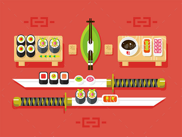 Japanese Cuisine Sushi - Food Objects