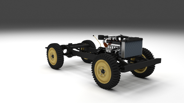 Full Jeep Chassis - 3DOcean Item for Sale