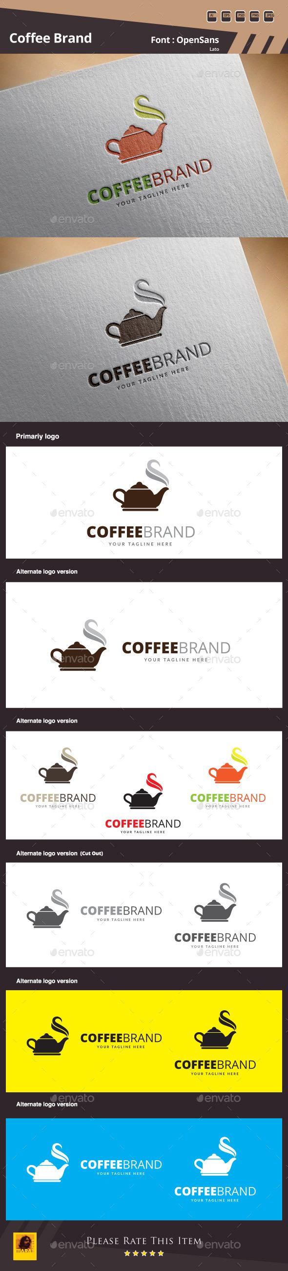 Coffee Brand Logo Template - Food Logo Templates