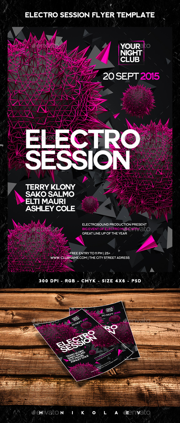 Electro Session Flyer - Clubs & Parties Events