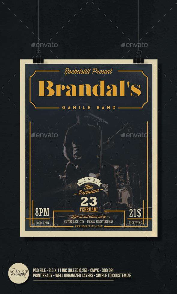 Rock Brandals Flyer - Concerts Events