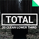 Total - Clean Lower Third - VideoHive Item for Sale