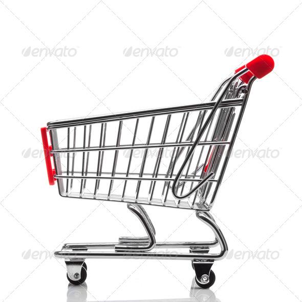 shopping cart isolated on white background - Stock Photo - Images