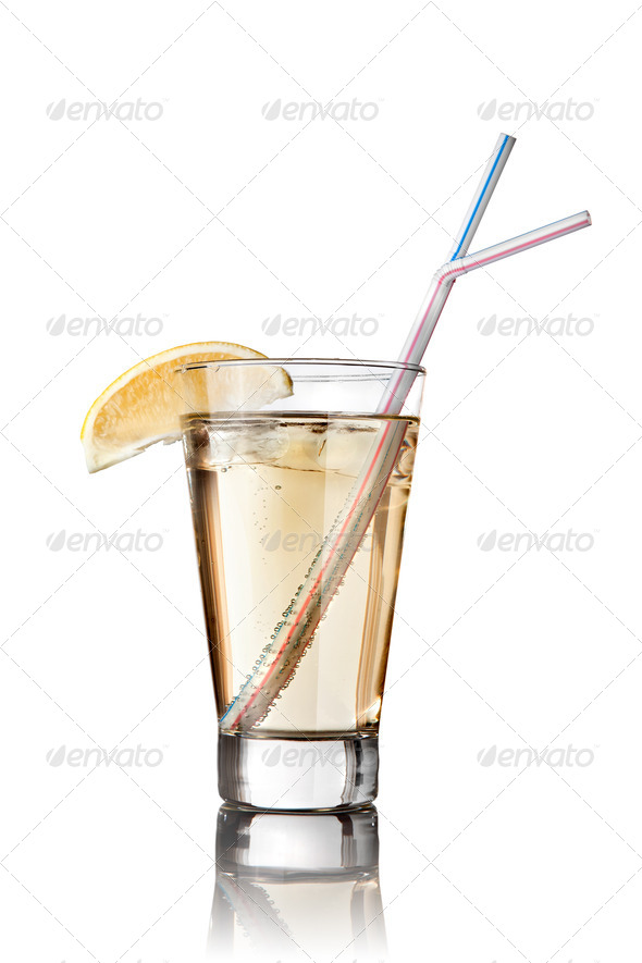cocktail isolated on white - Stock Photo - Images