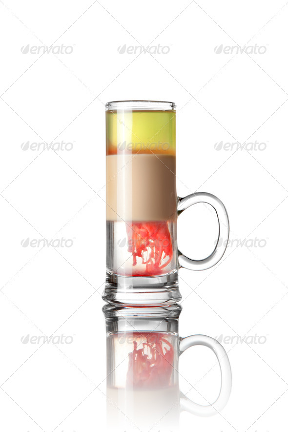 Shot drink cocktail isolated on white - Stock Photo - Images