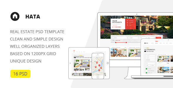 Hata — Real Estate PSD Template - Retail PSD Templates