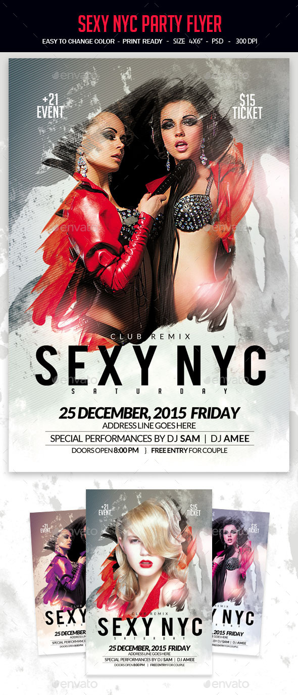 Sexy NYC Party Flyer - Clubs & Parties Events