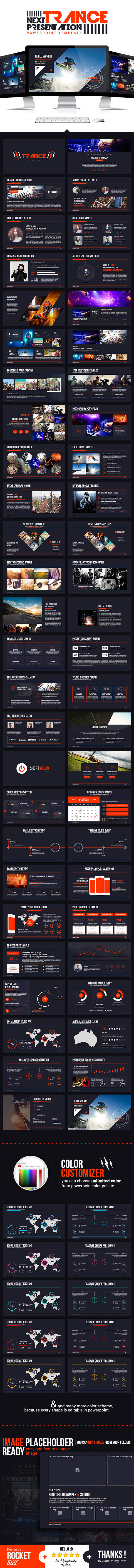 Trance Powerpoint Template - Creative PowerPoint Templates