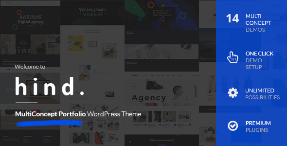 Hind – Multi-Concept Portfolio WordPress Theme