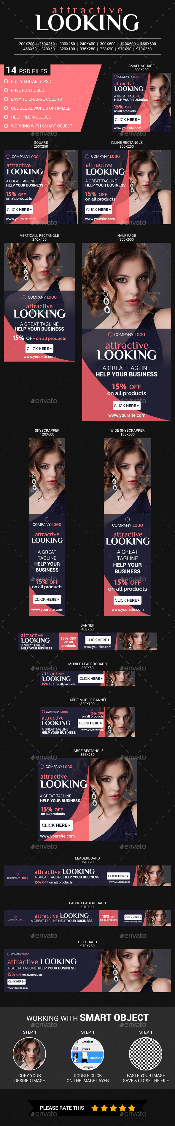Beauty & Fashion - Banners & Ads Web Elements