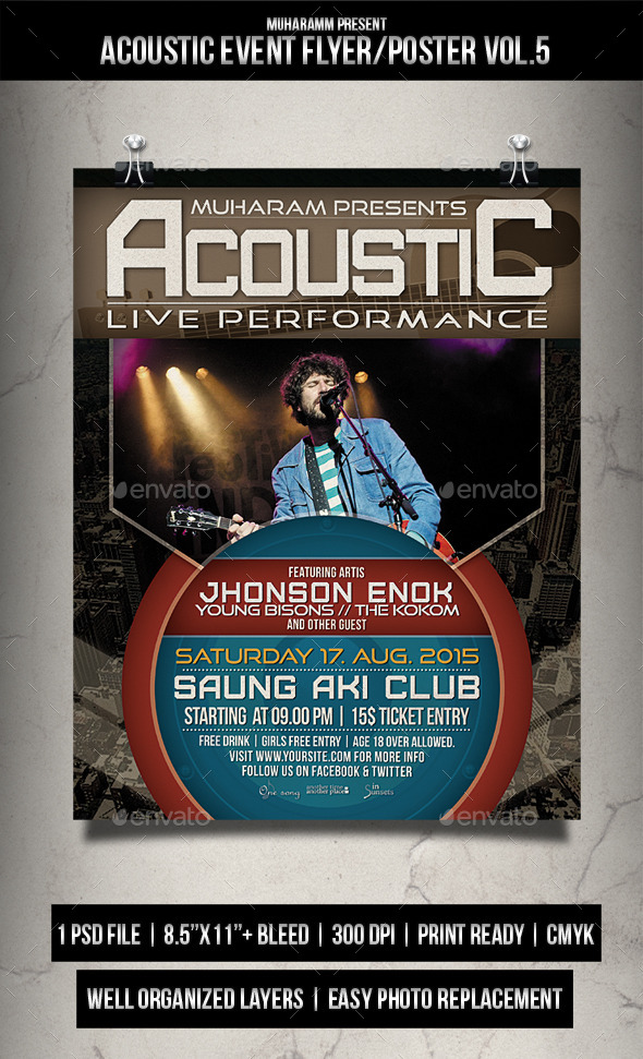 Acoustic Event Flyer / Poster Vol.5 - Events Flyers