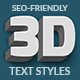 Animated 3D Text Styles - SVG