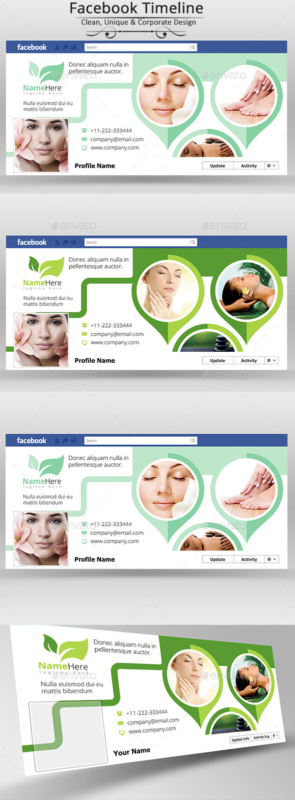 Beauty & Spa Facebook Cover Page - Facebook Timeline Covers Social Media