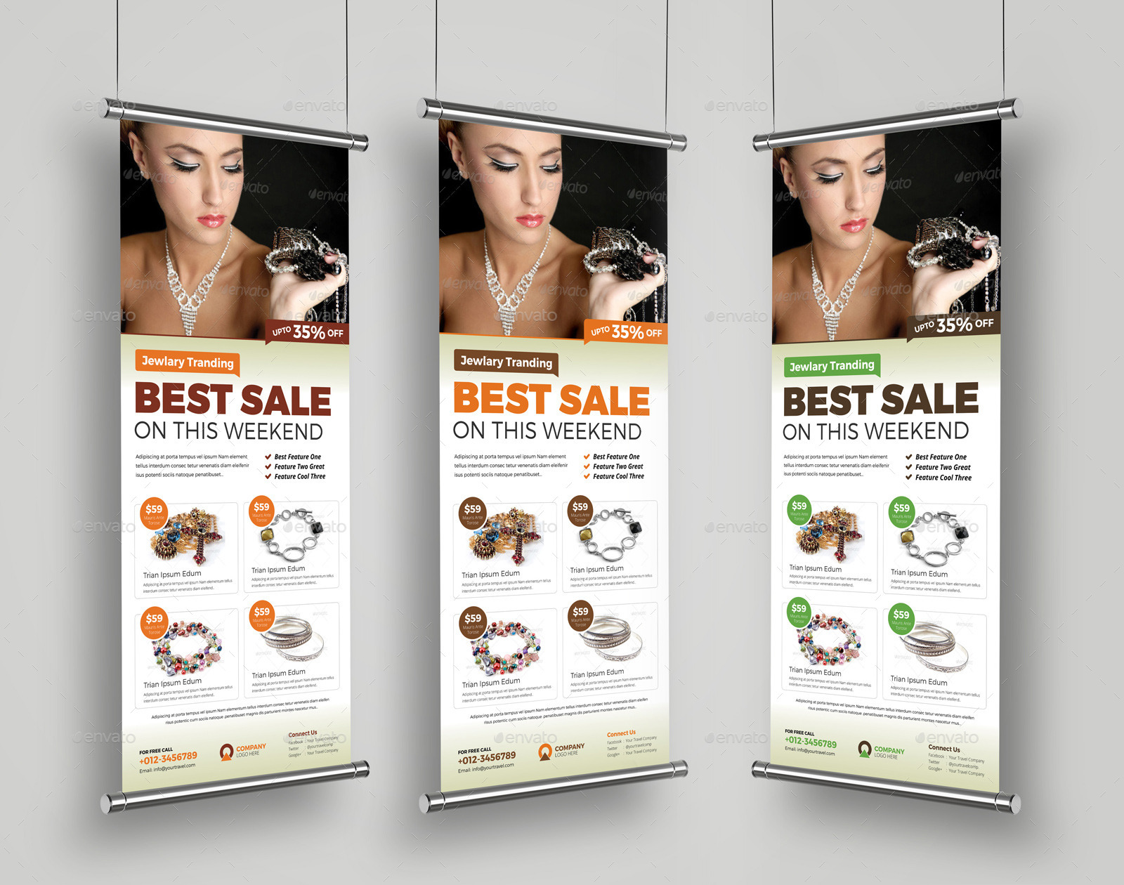 5171cc5a9 Jewellery Shop Roll Up Banner Signage InDesign by JanySultana ...