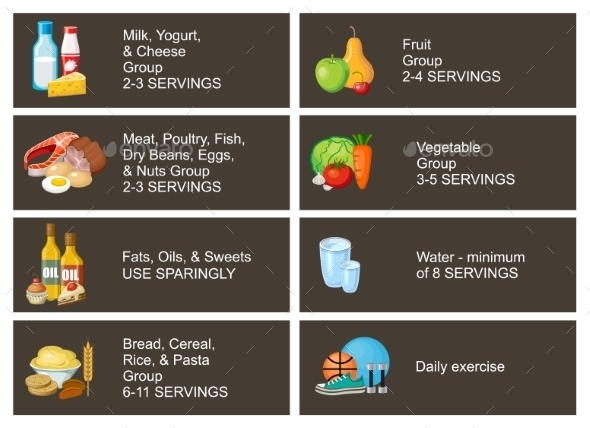 Healthy Eating Infographic - Food Objects
