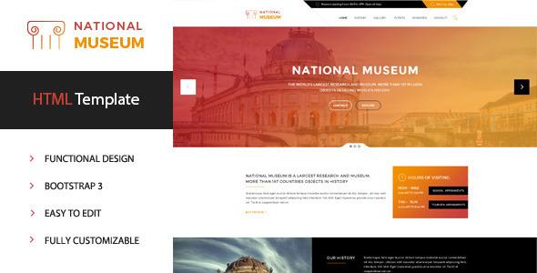Museum – Premium HTML Template