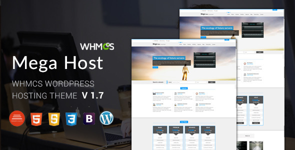 Hosting, Technology, Software And WHMCS Wordpress Theme  - Megahost