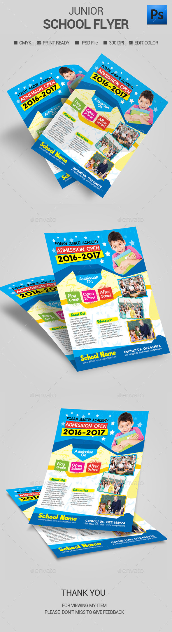 Junior School Admission Flyer - Flyers Print Templates