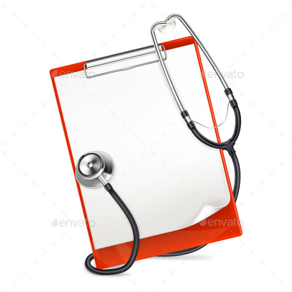 Clipboard with Stethoscope - Health/Medicine Conceptual