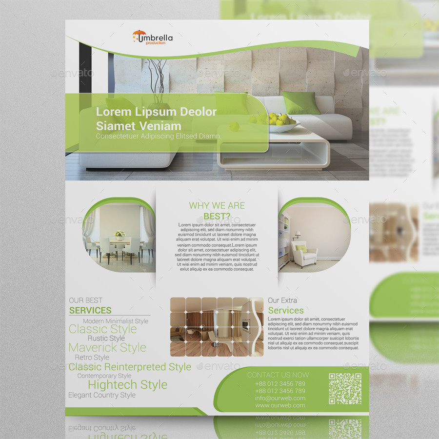 Interior design flyer by tanishqbd graphicriver for Interior design flyer