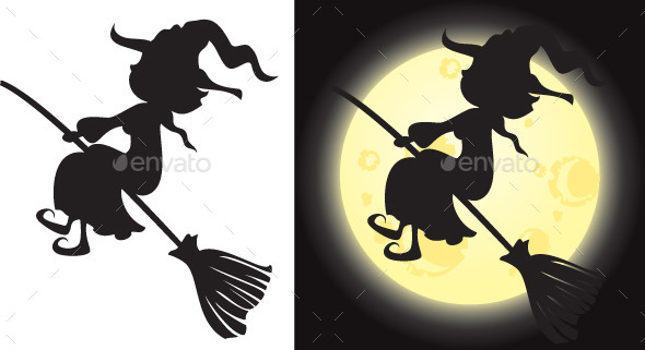 Witch's Silhouette - Halloween Seasons/Holidays