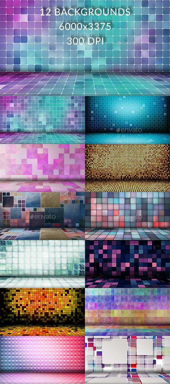 12 Grid Floor Backgrounds - Backgrounds Graphics