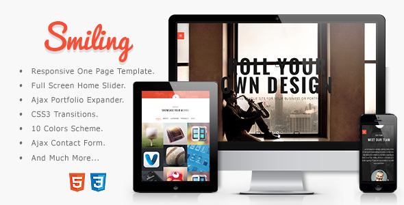 Smiling - Responsive Parallax One Page Template - Creative Site Templates