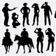 People Pose Silhouettes - GraphicRiver Item for Sale