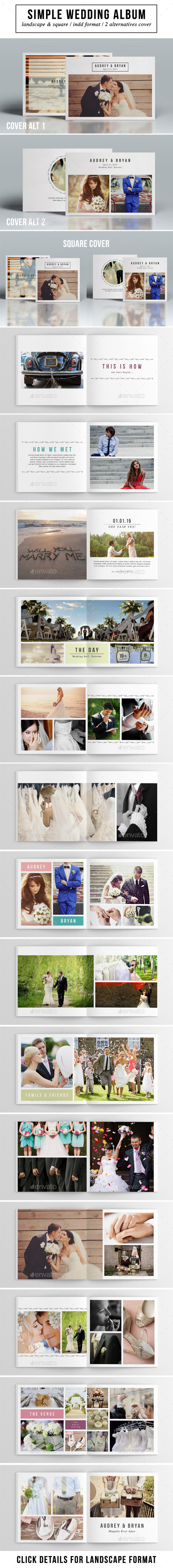 Simple Wedding Album - Photo Albums Print Templates