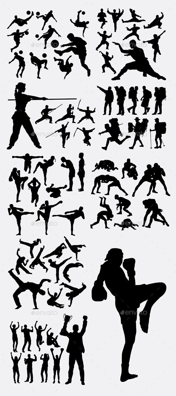 Sport Champion Silhouettes - Sports/Activity Conceptual