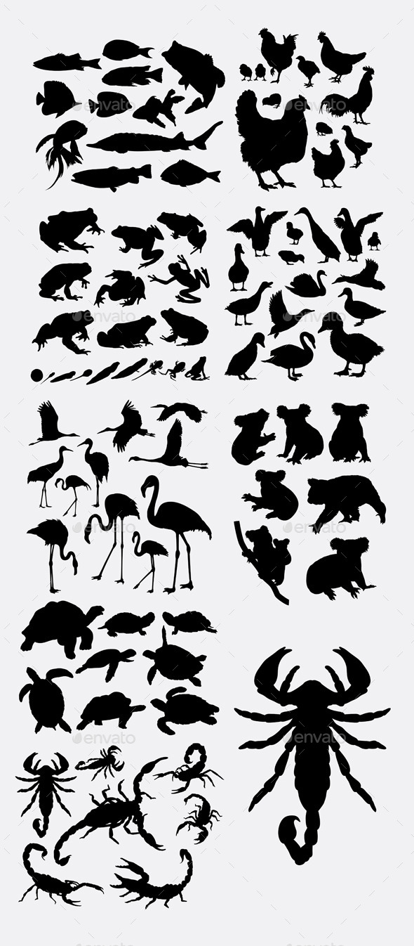 Miscellaneous Animals Silhouette - Animals Characters