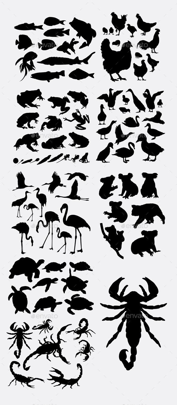 Miscellaneous Animals Silhouette